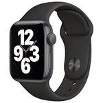 Hodinky Apple Watch SE 44mm Space Gray, Black Sport pásek (2020)