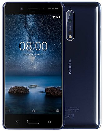 Nokia 8 DS Tempered Blue Glossy (lesklá) dualSIM Android 7.1