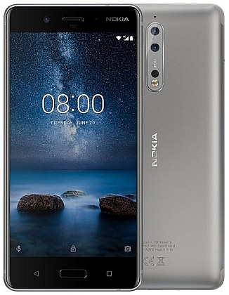 Nokia 8 DS Silver Steel dualSIM Android 7.1