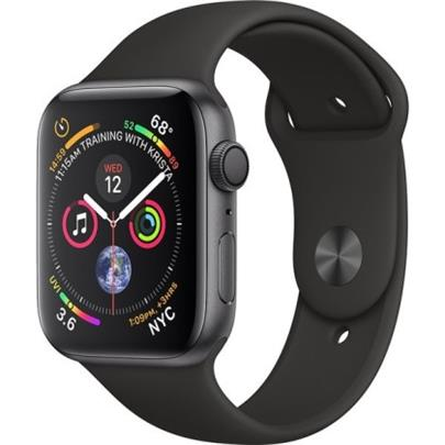 Hodinky Apple Watch Series 4 44mm Space Grey Aluminium - Black Sport pásek 2018