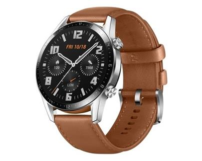 Hodinky Huawei Watch GT 2 Brown Leather Strap