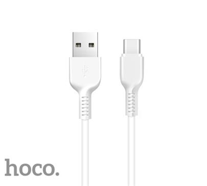 Data kabel HOCO X13 Easy charged, USB-C, 2A, 1m, bílá